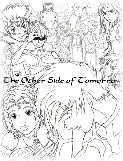The Other Side of Tomorrow - Lineart Collage