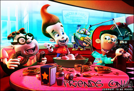 Sheen, Carl, and Jimmy at the Candy Bar