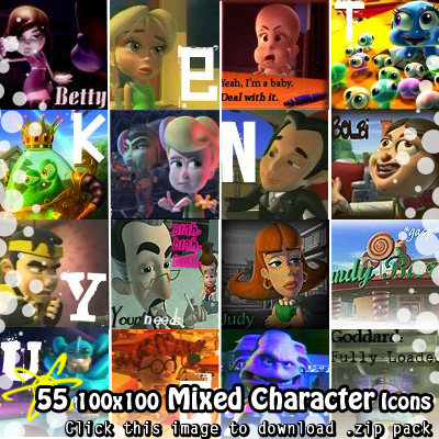 mixed character icons